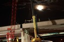 Wadsworth Pkwy Bridge Nighttime Girder Installation 03.29.13