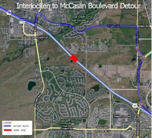 US 36 Between Interlocken and McCaslin Detour