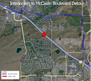 This detour map is for Thursday, Aug. 28, 10 p.m.-5 a.m. when eastbound and westbound US 36 will be closed between Interlocken Loop and McCaslin Boulevard to set six girders on the McCaslin Boulevard bridge. thumbnail image