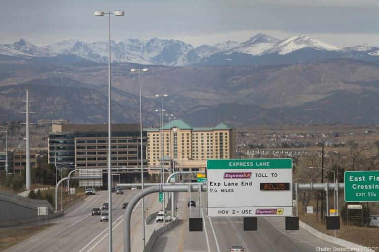 US 36 westbound express lanes