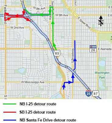 Gap Detour Map