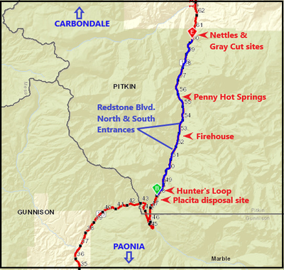 CO 133 MCClure Pass project map