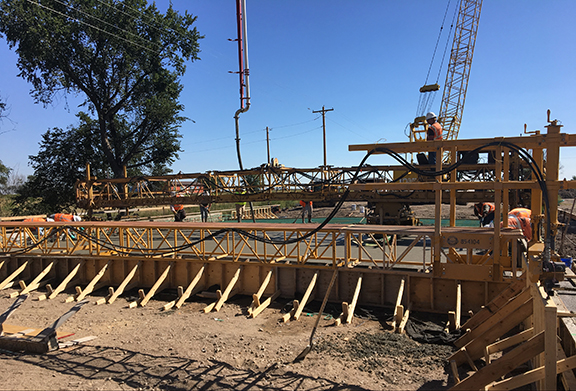 Lodgepole Creek Bridge Concrete Pour