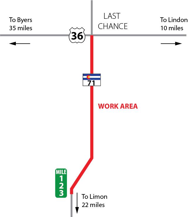 CO 71 Last Chance map