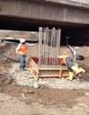 SH 88 bridge pier construction May 2014