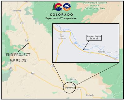 CO 131 Naturita project map