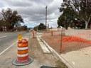 Wide view of sidewalk improvements underway at Spruce.jpg