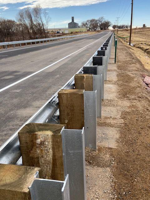 New columns and abutments bridge at CO 10