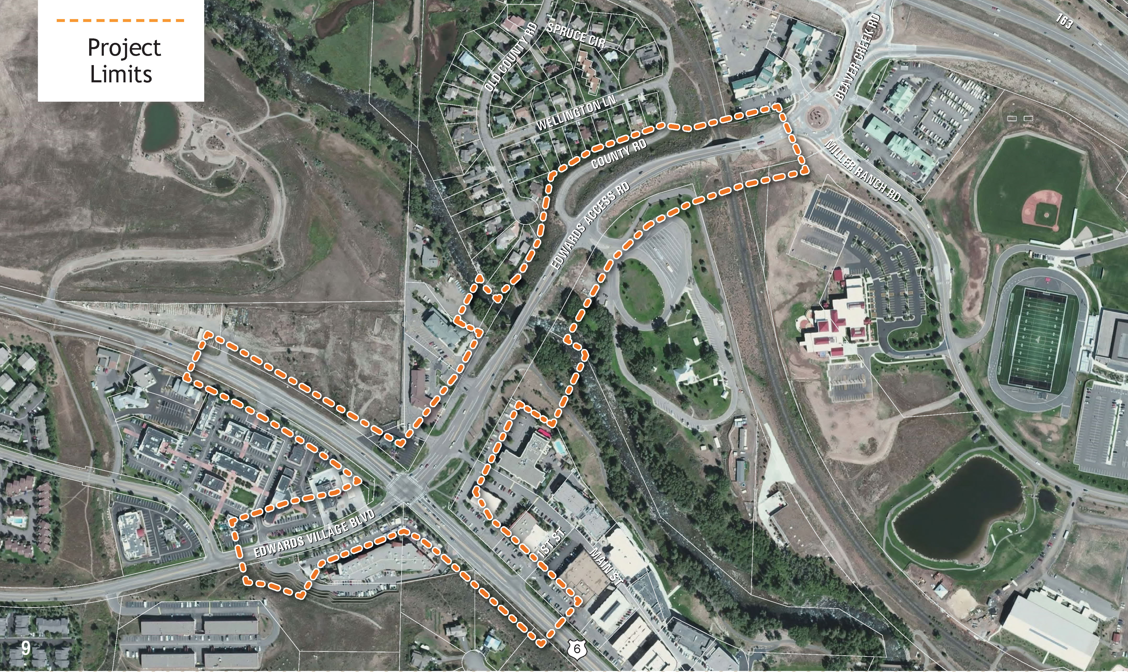 Edwards Spur Road - Project Map
