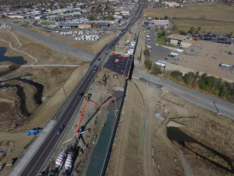Aerial view of progress: November 2016