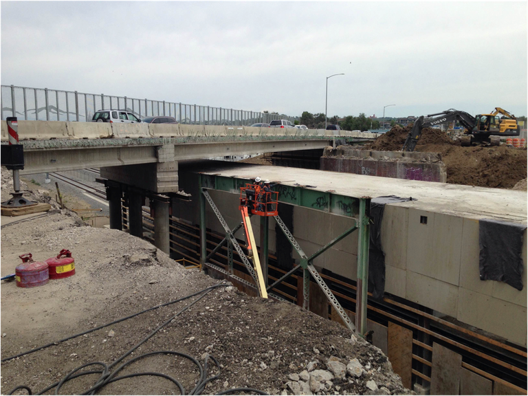 Bridge construction progress summer 2016