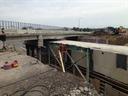 Bridge construction progress summer 2016