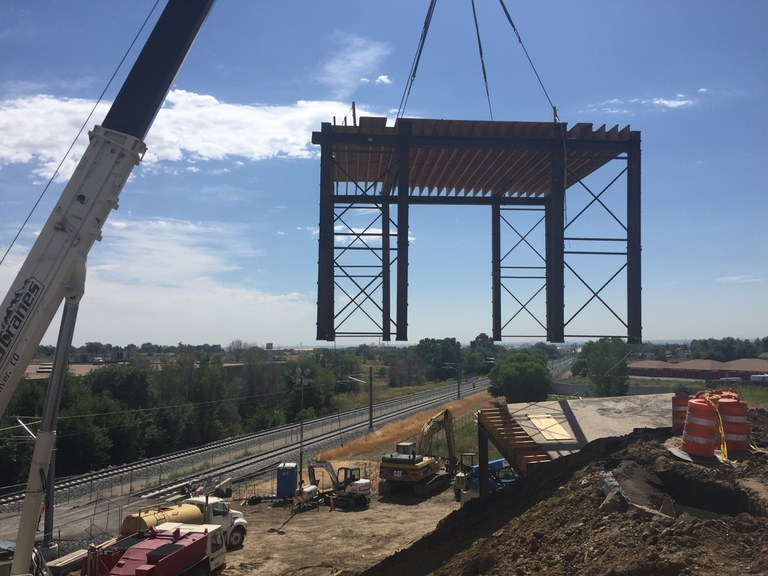 View of Progress on Replacing Bridge at Federal and 69th   August 2016