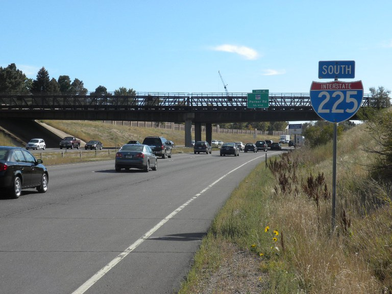 Southbound I-225 Near Parker Road