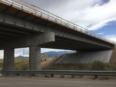Wide shot of concrete deck pour