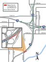Detour Map I-25 northbound Park Avenue
