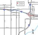 Detour Map: Ramp Closure Eastbound I-70
