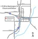 Eastbound Washington Ramp Detour May 22