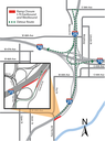 I-25 Northbound and Park Avenue Combined Detour Map
