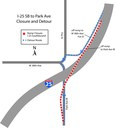 I-25 Southbound to Park Avenue ramp Detour May 21