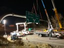 crews erecting sign during overnight hours.jpg thumbnail image