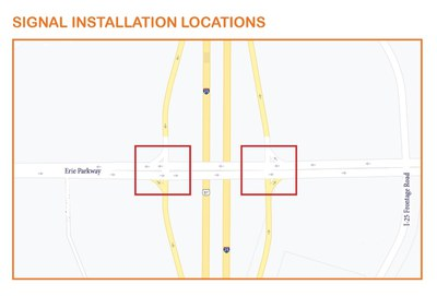I-25 Frontage Road & Erie Pkwy Ramp Signalization Mao