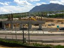 Southbound I-25 bridge work