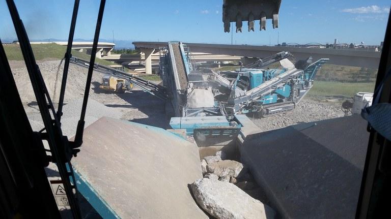 16. Concrete crushing & recycling