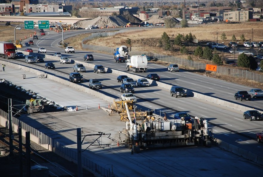21. Southbound I 25 paving