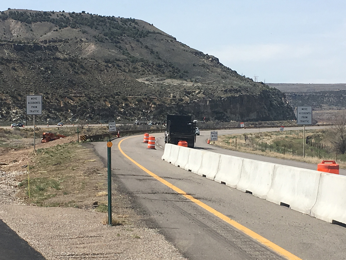 I-70 Overflow EB Setting Up Barrier for Traffic Switch.JPG