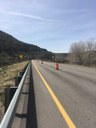 I-70 Overflow WB Cone in Work Area.jpg