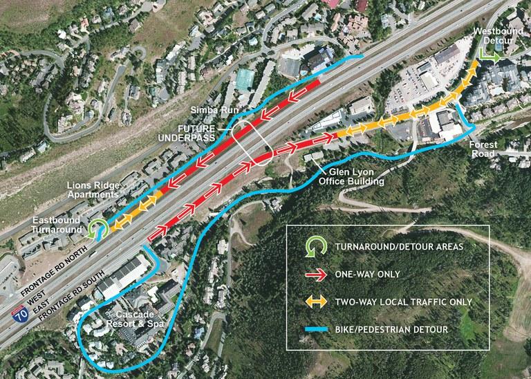 Bike Path Underpass Map September 2016
