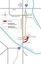 I-25 Ilex On- and Off-Ramps Detour Map