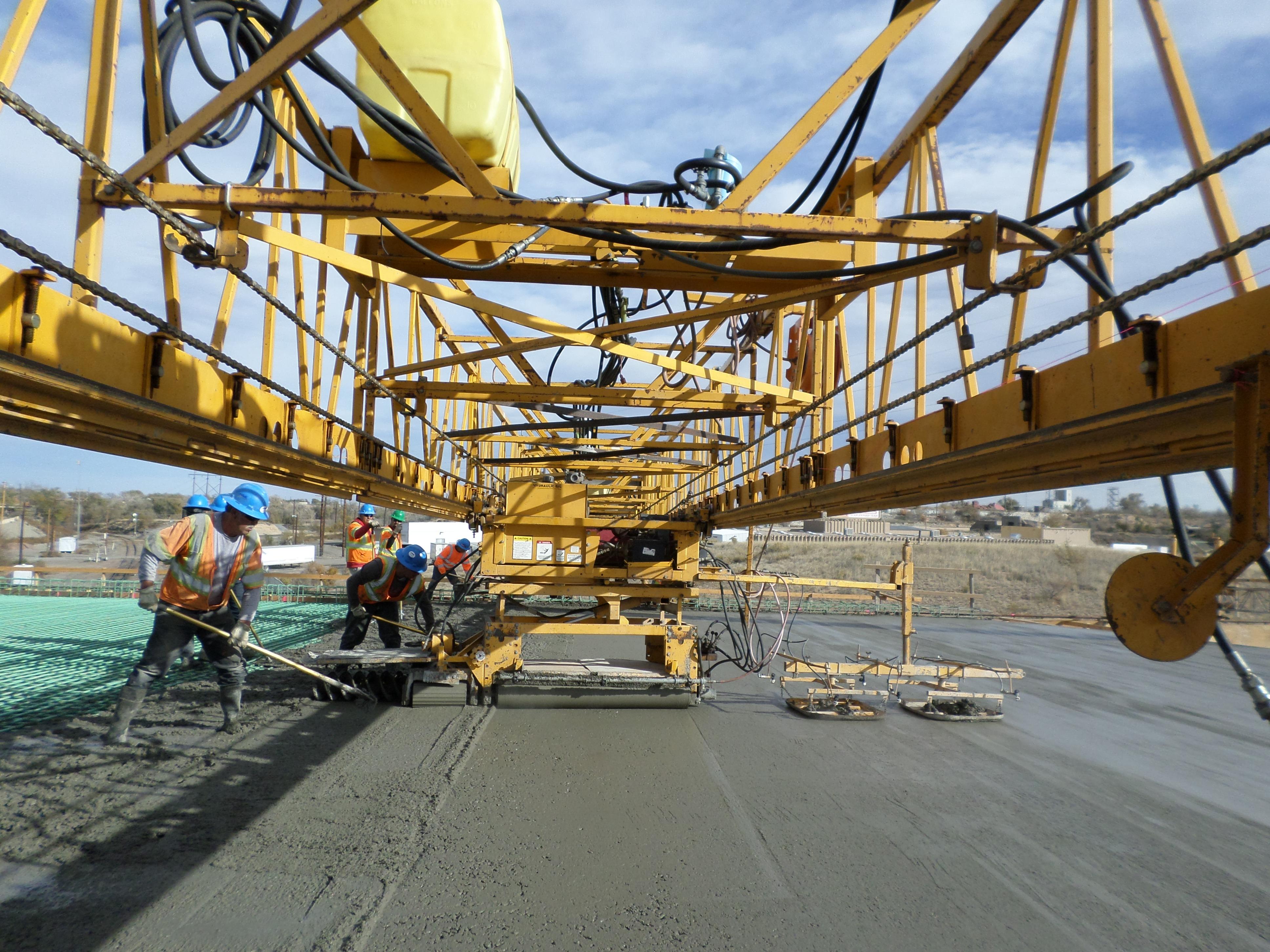 Paving the bridge deck