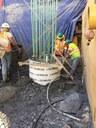 Caisson Concrete Pour 8-12-15
