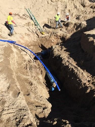 Water line work at Gruma 1 22 16 detail image