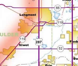 Map of Longmont Area