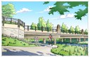 Mulberry Bridge Rendering CREDIT: BHA DESIGN, INC.