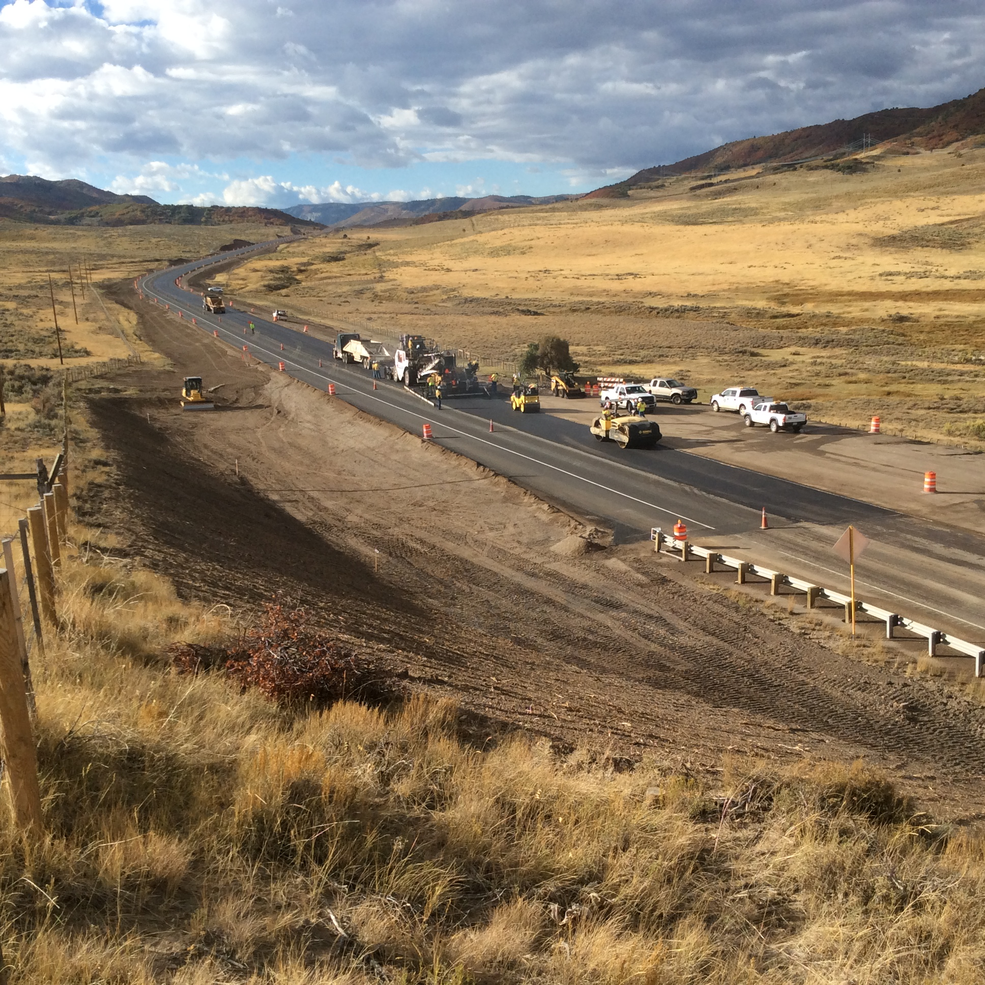 Paving operations being completed along CO 13t