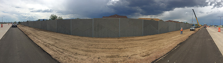Sound wall panoramic view