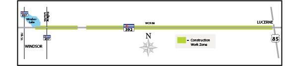 CO 392 Windsor Work Zone