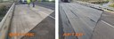 SH 392 Bridge Membrane before and after diptych