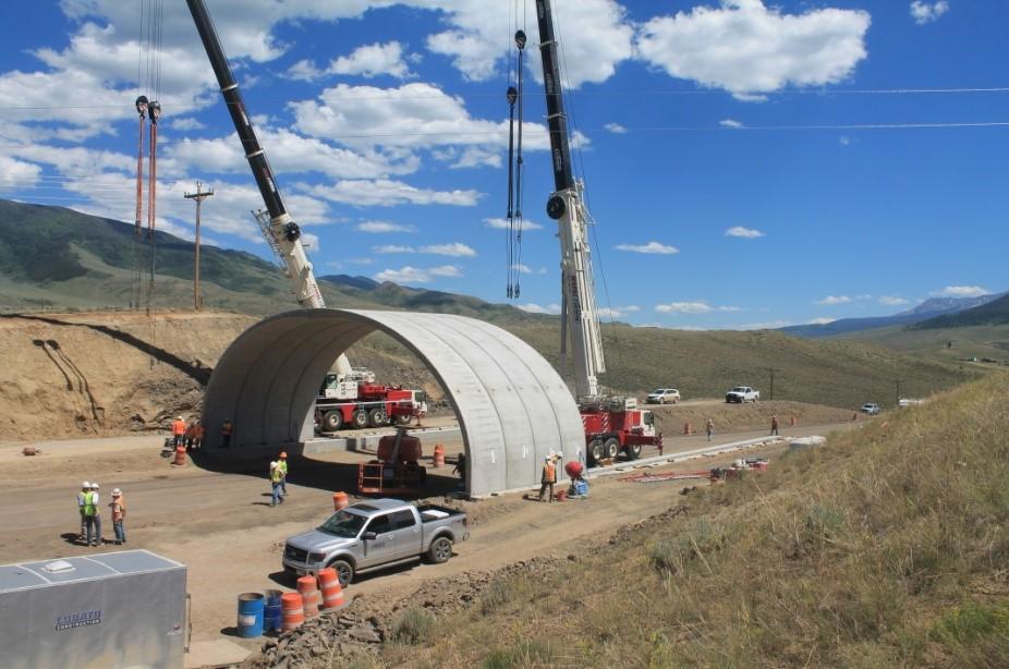 Installation of new wilfelife overpass