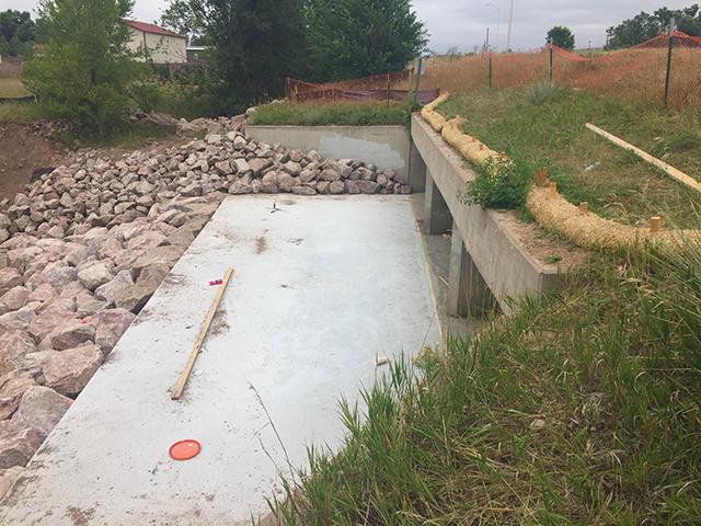 Sand Creek culvert repairs under Troy Hill Road.JPG