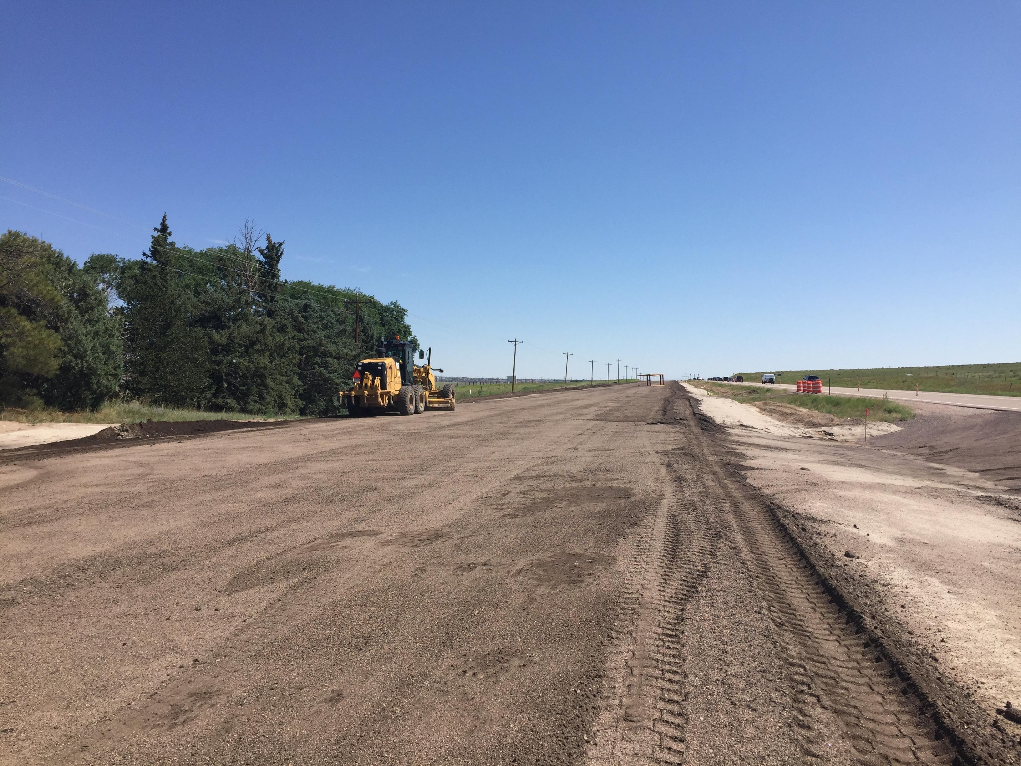 Westbound US 24 preparing for concrete paving