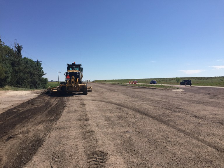 Westbound US 24 reconditioned base