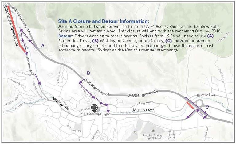 Site A Detour Map