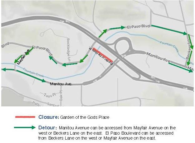 Site B Detour Map