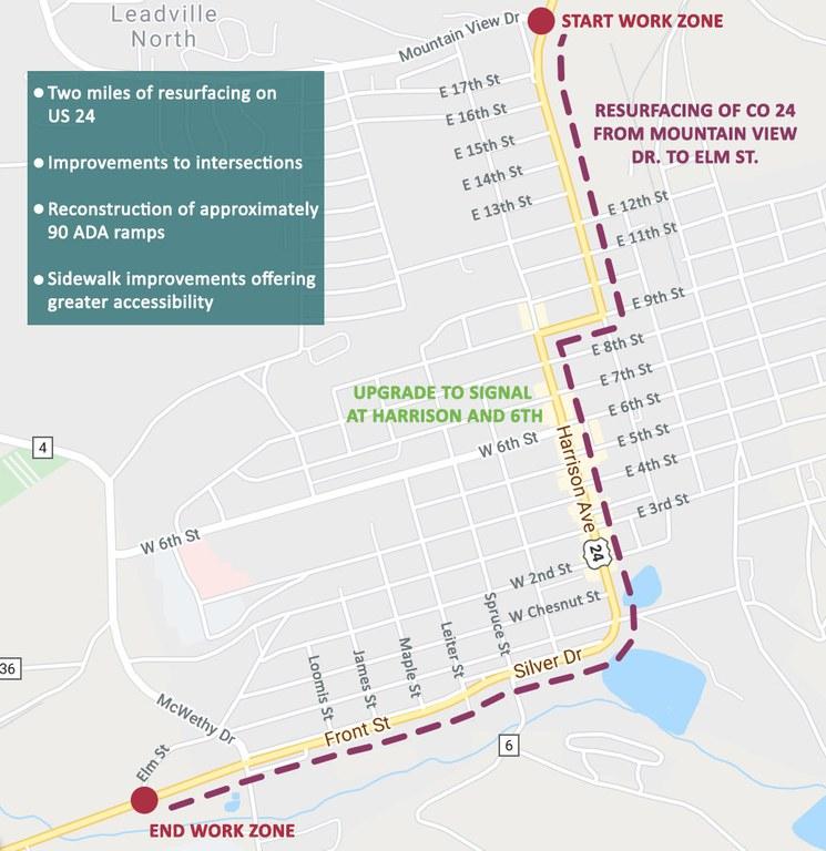 US 24 Leadville Map