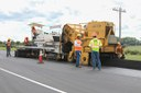 CDOT Inspectors Monitoring placement of Asphalt